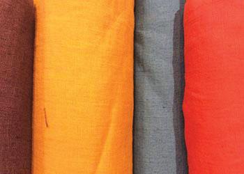 lin ou l 39 autre lin lav bordeaux tissu au m tre plus de. Black Bedroom Furniture Sets. Home Design Ideas