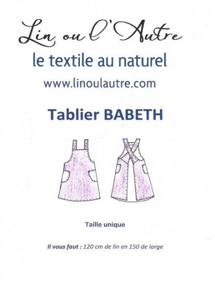 Patron tablier Babeth