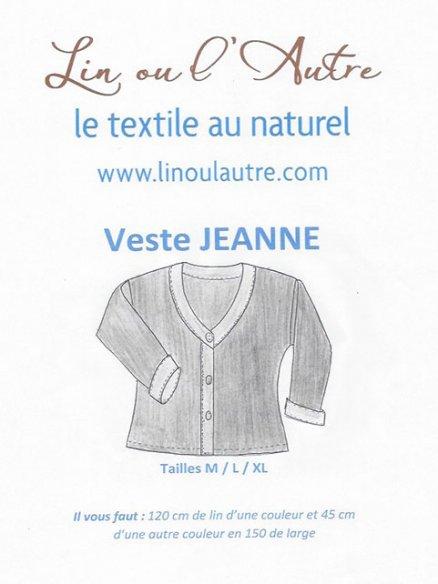 Patron veste Jeanne