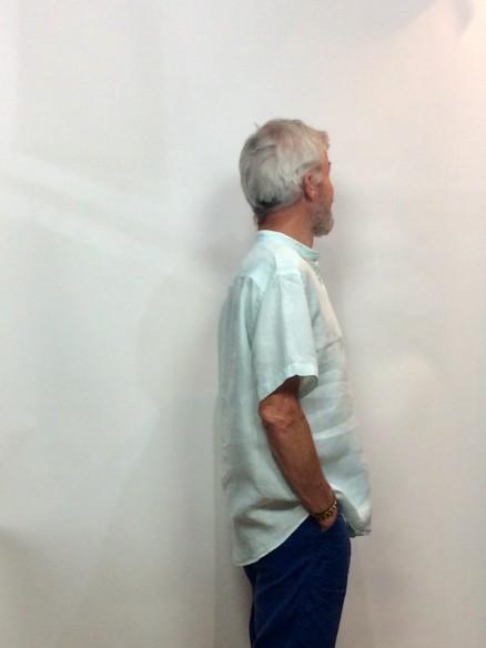 Chemise en lin Homme - Col mao - Manches courtes