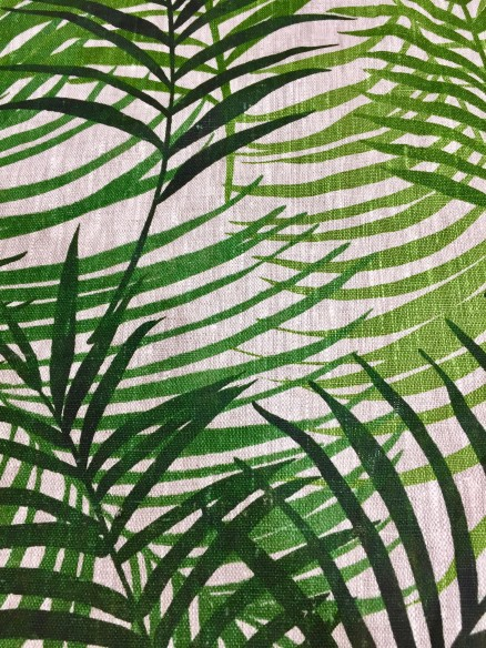 Lin imprimé Naturalistes vert