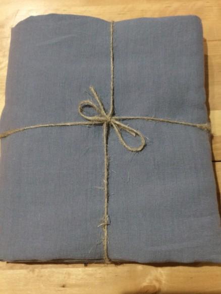 Drap plat en lin gris breton