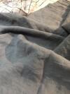 Lin Lavé Fin Grande largeur Gris beton