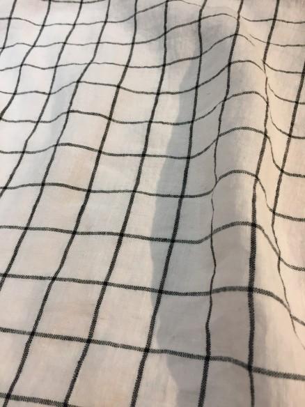 Lin Lavé Fin Grande largeur Gris Acier