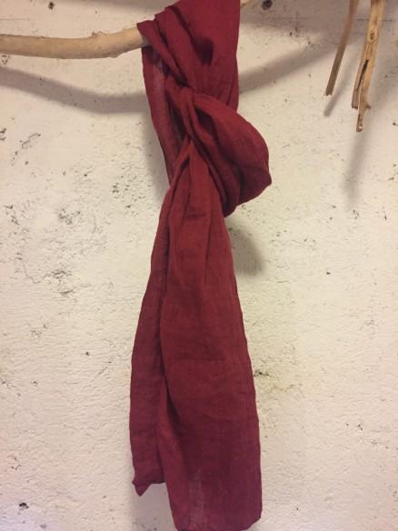 Etole lin souple rouge basque