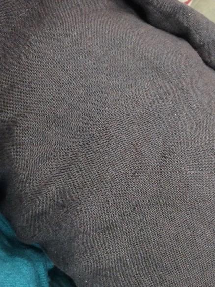taie d'oreiller en lin lavé gris acier