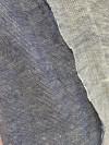 taie d'oreiller en lin lavé bleu chiné