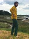 Chemise en Lin Homme -Cintrée - Col classique - Manches longues