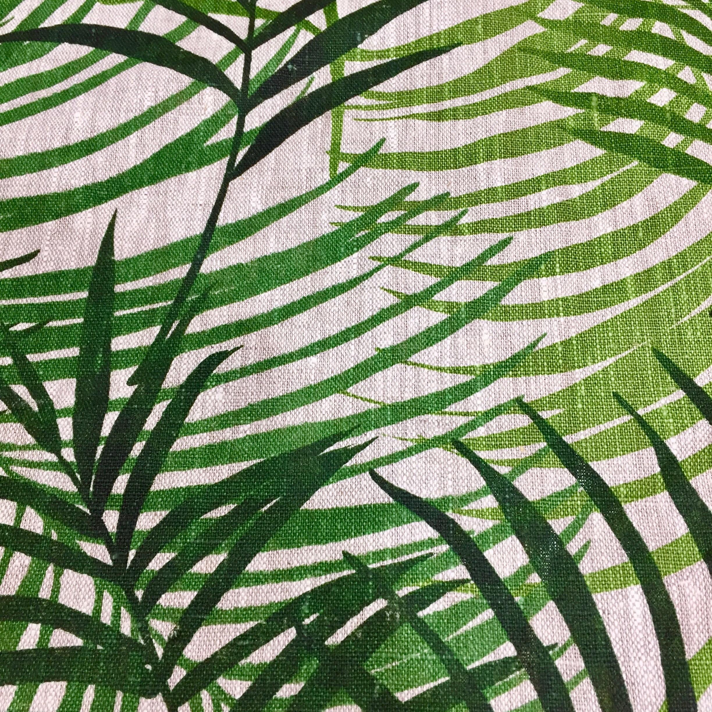 Lin imprime feuillage vert