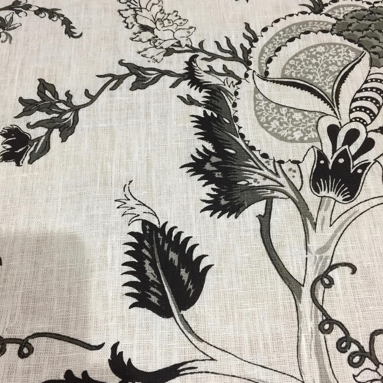 Lin imprimé darjeeling noir