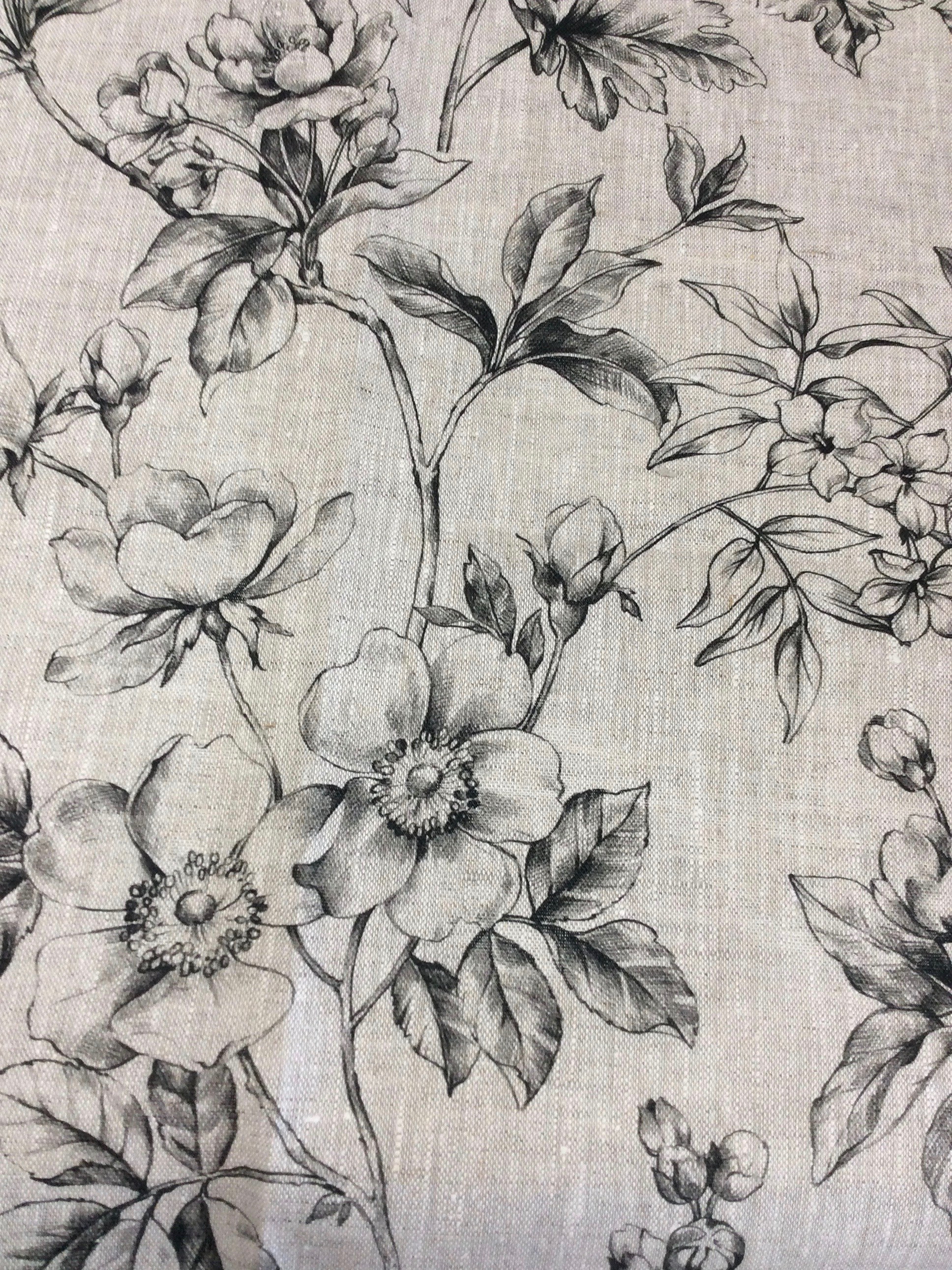 Lin imprimé blossom