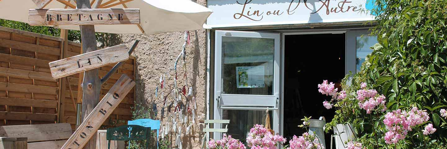outside view of the shop in Corconne , south of France